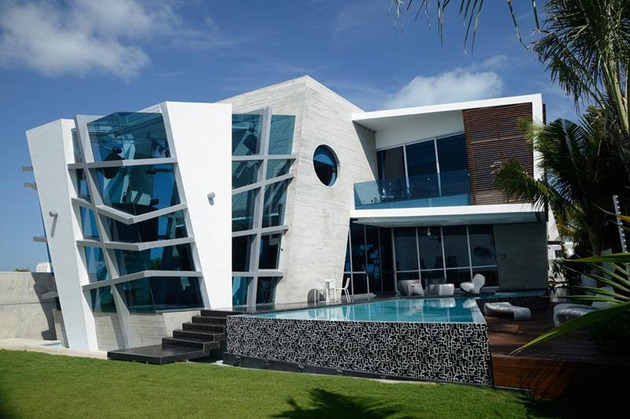 Abstract shape modern house