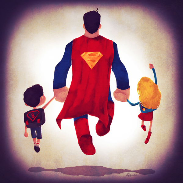 Superhero families by Andry Rajoelina
