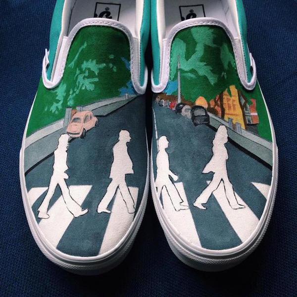 Hand-Paints Vans Sneakers With Pop Culture Icons
