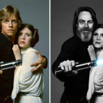 Star Wars Actors Then And Now 01 Mark Hamill and Carrie Fisher 1977 - 2015