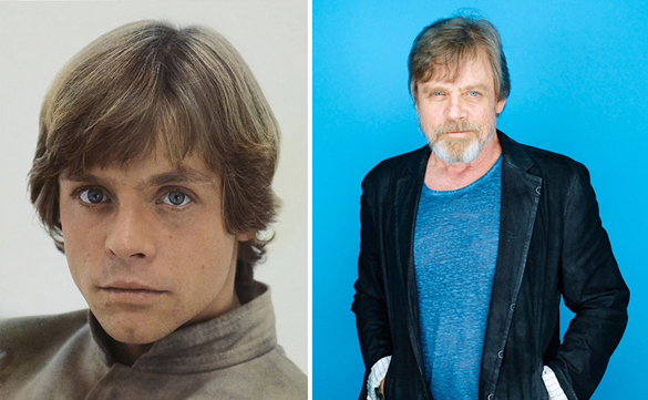 Star Wars Actors Then And Now 02 Mark Hamill as Luke Skywalker 1980 - 2015