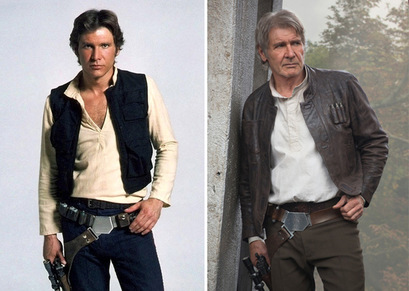 Star Wars Actors Then And Now 04 Harrison Ford as Han Solo 1980 - 2015