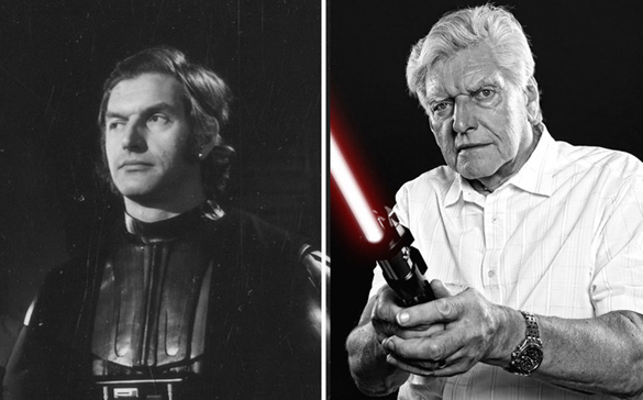 Star Wars Actors Then And Now 06 David prowse as Darth Vader 1977 - 2015
