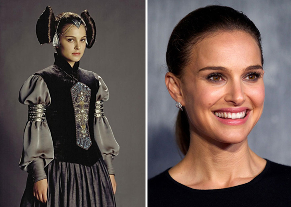 Star Wars Actors Then And Now 08 Natalie Portmann as Pamade Amidala 2003 - 2015