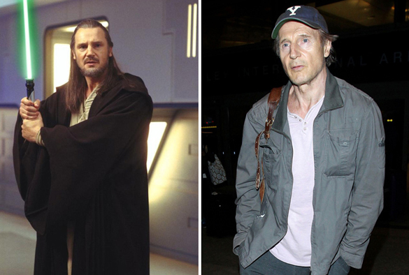 Star Wars Actors Then And Now 09 Liam Neeson as Qui-Gon Jinn 1999 - 2015