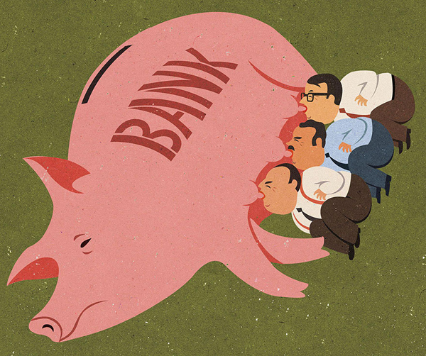 Satirical Illustrations by John Holcroft
