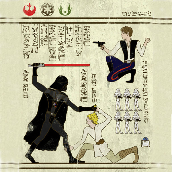 Super Heroes Meet Egyptian Hieroglyphs