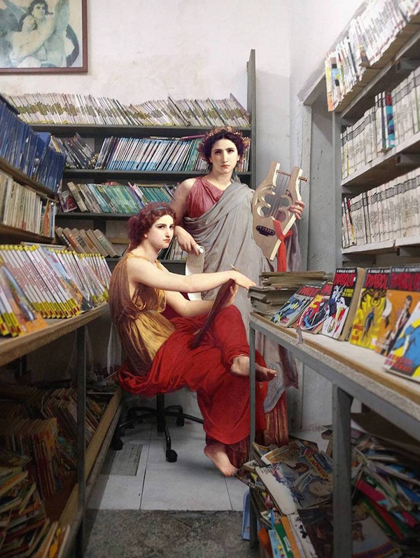 Classical paintings reimagined as Modern-Day Italian Life by Alexey Kondakov
